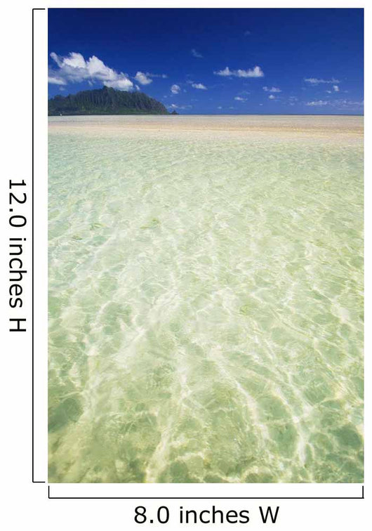 Hawaii, Oahu, Kaneohe Sandbar With Kualoa In The Back Ground Wall Mural
