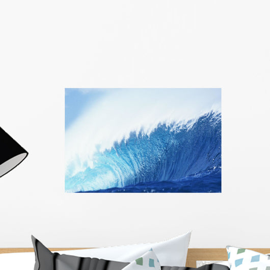 Hawaii, Oahu, Perfect Wave At Pipeline Wall Mural
