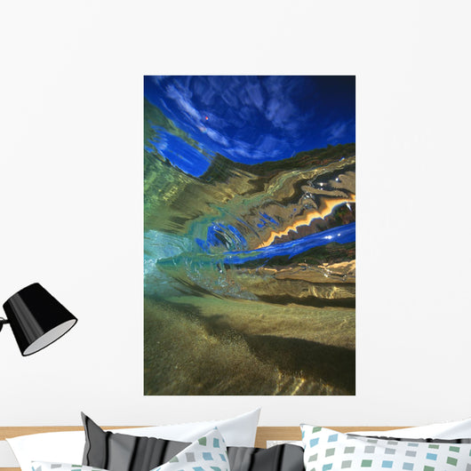Hawaii, Abstract Underwater View Of Breaking Wave Wall Mural