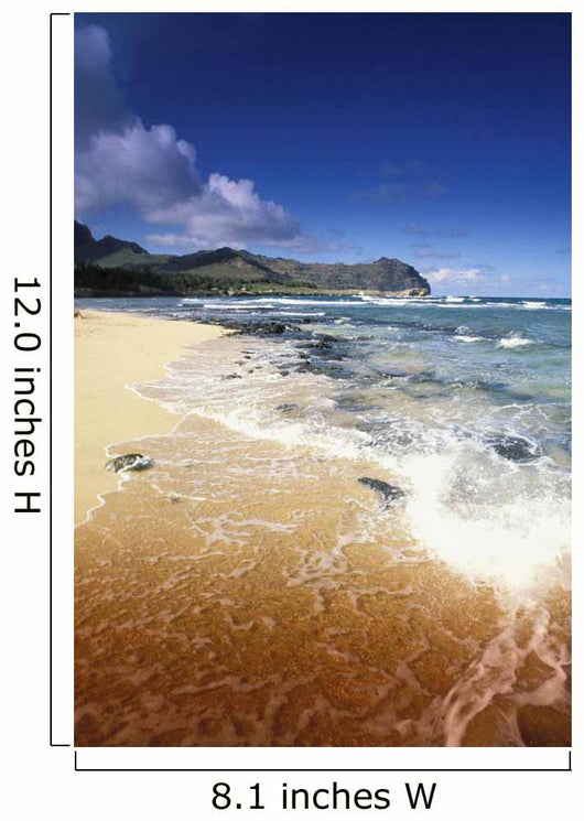 Hawaii, Kauai, Poipu, Shipwrecks Beach, White Sands, Shoreline Water Wall Mural