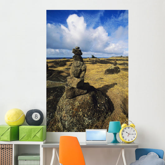Maui, Northwest Coast, Rock Stacks In An Area Of Hiking Trails Wall Mural