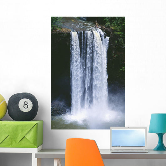 Close-Up Of Cascading Waterfall Wall Mural