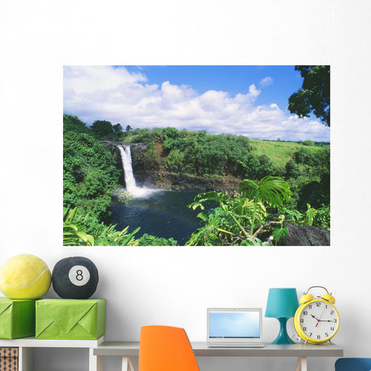 Rainbow In Mist Of Waterfall Wall Mural