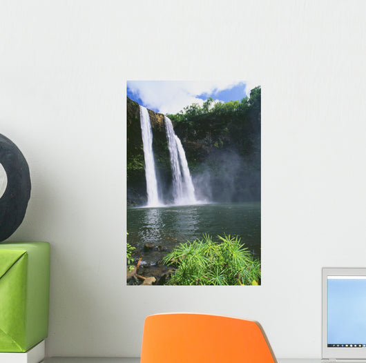 Three Waterfalls Empty Into Same Pool Wall Mural