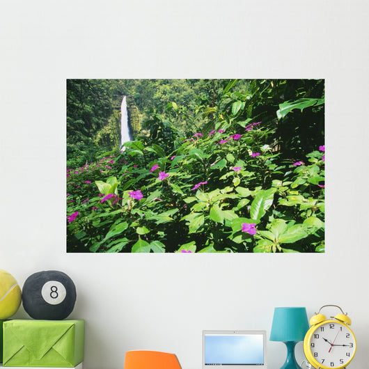 Impatiens In Foreground Wall Mural