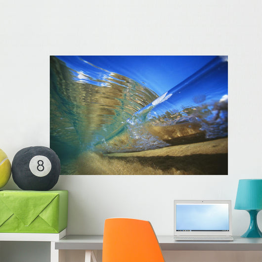 Abstract Underwater View Of Waves And Surf Wall Mural