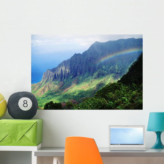 Kalalau Valley Viewpoint With Rainbow Wall Mural