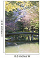 Bridge In Nitobe Memorial Garden Wall Mural