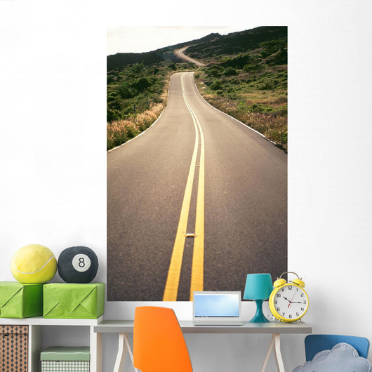 Hawaii, Maui, Country Road Through Rolling Hills Wall Mural