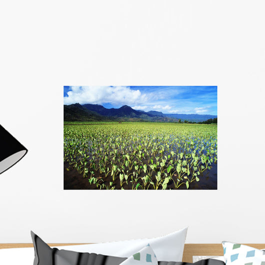 Scenic Mountains And Blue Sky Wall Mural