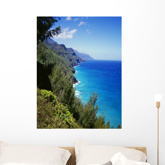 Bright Blue Sky And Ocean Wall Mural