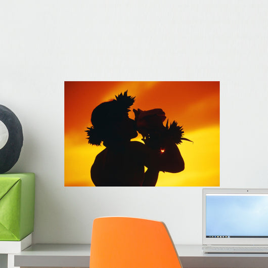 Fiery Orange Sky Wall Mural