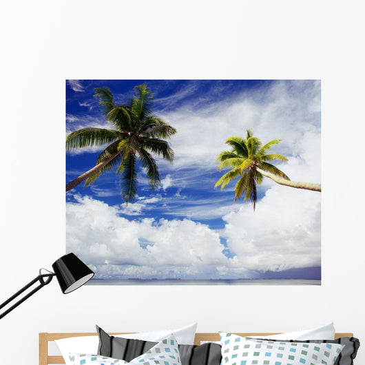 Blue Sky And Clouds Wall Mural