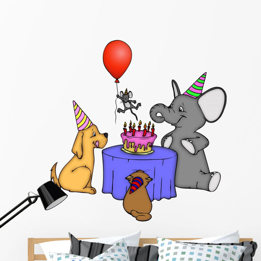 Birthday, party, party, children's birthday party Wall Decal