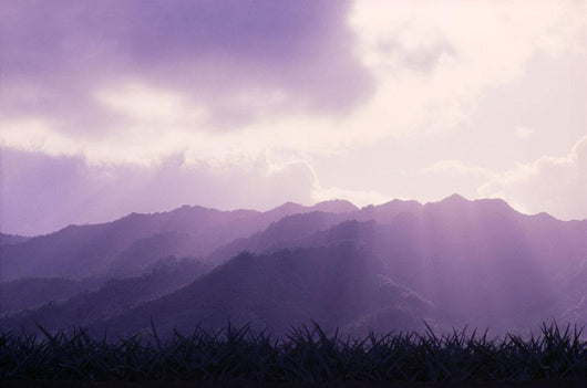Hawaii, Oahu, Mount Kaala Waianae Mountain Range Sun Rays A43A Wall Mural