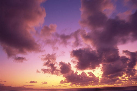 Tropical Cumulus Pink/Orange Clouds At Sunset, Over Ocean A35C Wall Mural