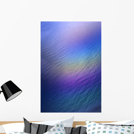 Hawaii, Rainbow Colors Over Water, Aerial Polarized Image A33E Wall Mural