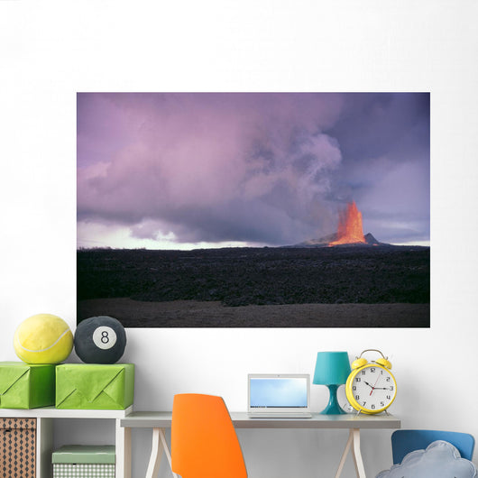 Fountaining Lava At Dusk In Distance A26B Wall Mural