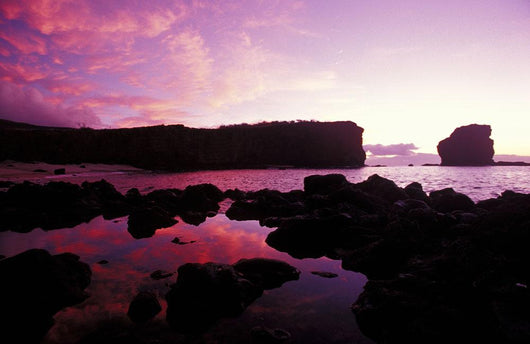 Hawaii, Lanai, Sunrise At Pu'u Pehe, Sweetheart Rock Wall Mural