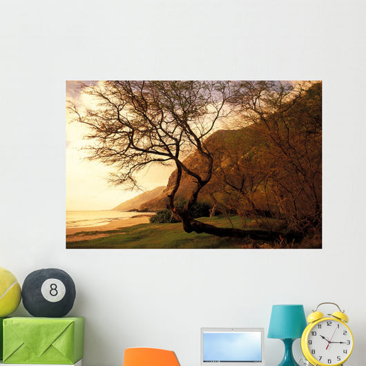 Hawaii, Oahu, Scenic View Of Beach Near Yokohama Bay, Soft Focus Wall Mural
