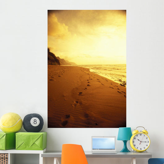 Golden Sky And Water Wall Mural