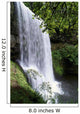 Oregon, Silver Falls State Park, Lower South Falls, B1648 Wall Mural