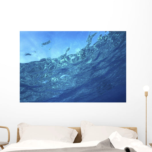 Underwater Pool Reflections Looking To Surface B1504 Wall Mural