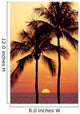 Hawaii, Big Island, Sunset With Coconut Trees Kohala Coast, B1557 Wall Mural