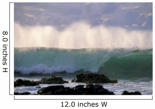 Wave Crashes On Rocky Shoreline, Mist On Wave B1445 Wall Mural