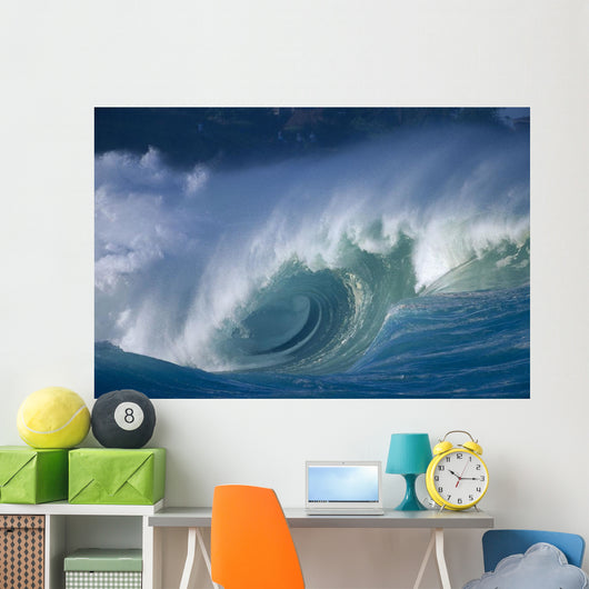 Hawaii, Oahu, Aimee Shore Break, Big Waves B1474 Wall Mural