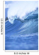 Angled View Of A Huge Wave With Whitewash, Curling C1748 Wall Mural