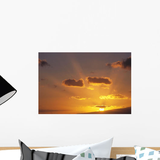 Golden Sunset And Rays C1726 Wall Mural