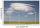Dramatic Clouds With Blue Sky And Wind Mills Wall Mural