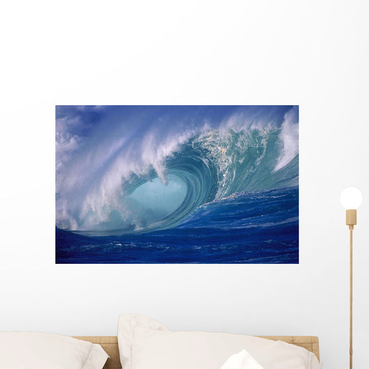 Wave Curling Through Curl Wall Mural