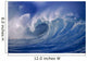 Powerful Winter Surf, Wave Crashing, Curling Close-Up Wall Mural