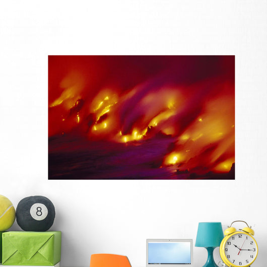 Blurred Motion Smoky Wall Mural
