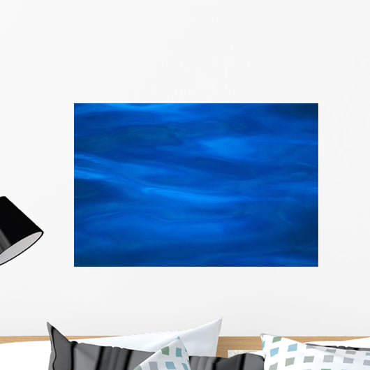 Calm Blue Ocean Surface, Texture With Different Shades Wall Mural