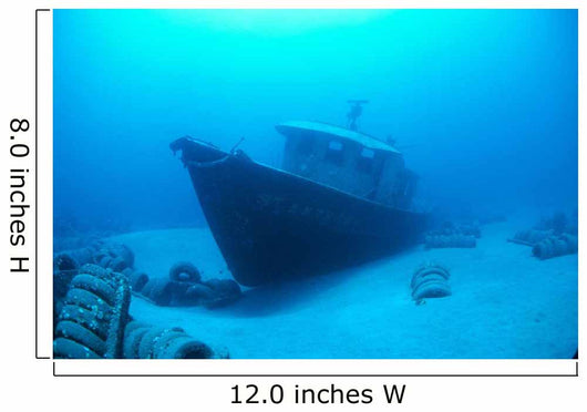 Hawaii, Maui, Kihei, Front View Of St Anthony Wreck In Deep Blue Water Wall Mural