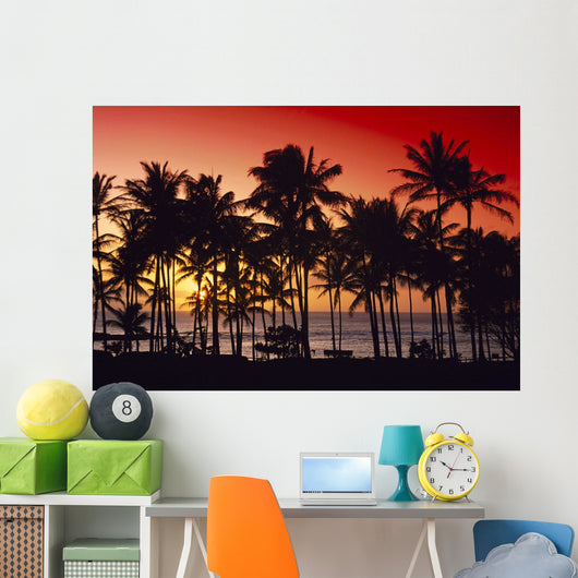 Palms Silhouette Wall Mural