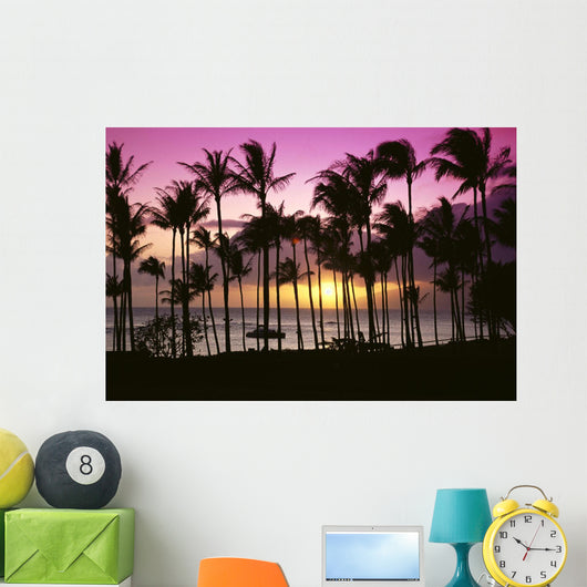 Purple And Yellow Sky Wall Mural