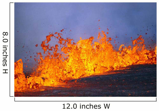 Close-Up Of Lava From East Rift Zone Eruption Of Kilauea Wall Mural