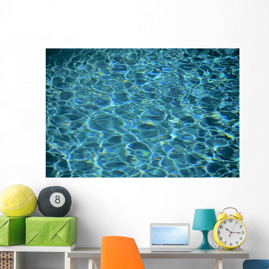 Water Reflections Of Pool, Design And Light Patterns Wall Mural