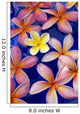 Studio Shot Of One Yellow And Mixed Color Plumeria Flowers Wall Mural