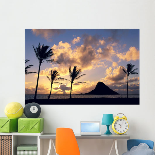 Palms On Shore Wall Mural