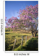 Hawaii, Maui, Upcountry With Jacaranda Tree, Blue Skies, And Fence Wall Mural