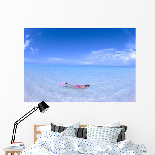 Blue Skies With Wispy Clouds Wall Mural