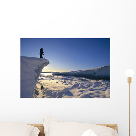Sunrise With Reflections On Snow Wall Mural