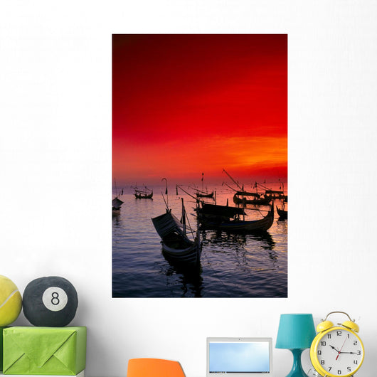 Red Sunset Sky Wall Mural