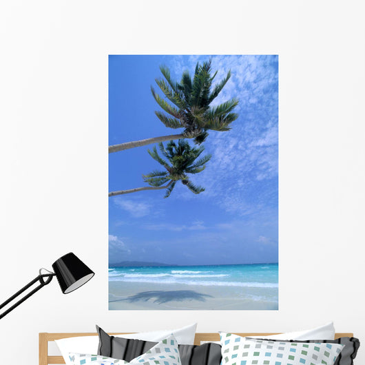 Two Palm Trees Wall Mural