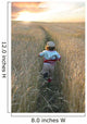 Girl Running Through Wheat Field, Manitoba Wall Mural